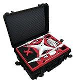 Valise professionnelle / Malette de transport de drones approprié pour DJI Phantom 4 Pro et Professional Plus (Display) et avec beaucoup d'espace pour 6 batteries.