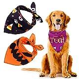 URATOT 3 Pieces Halloween Dog Bandanas Washable Halloween Pet Bibs Kerchief Costumes Accessories