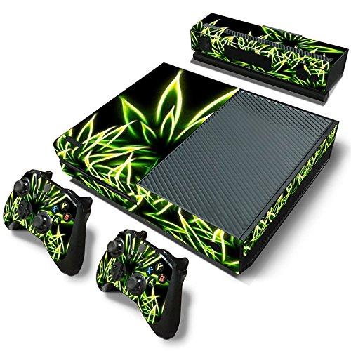 FriendlyTomato Xbox One Console and 2 Controllers Skin Set - Weed Marijuana 420 - XboxOne Vinyl