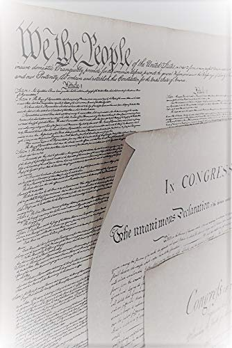 3 Documents of Freedom Set Constitution, Declaration of Independence, Bill of Rights by Historical Documents