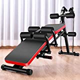 Height Adjustable Weight Bench, 8 IN 1 Utility Barbell Lifting Press Exercise Dumbbell Bench Beauty Waist Machine, Home G-ym Multi-Functional Strength Training Sit Up Abs Barbell Bench (Black)