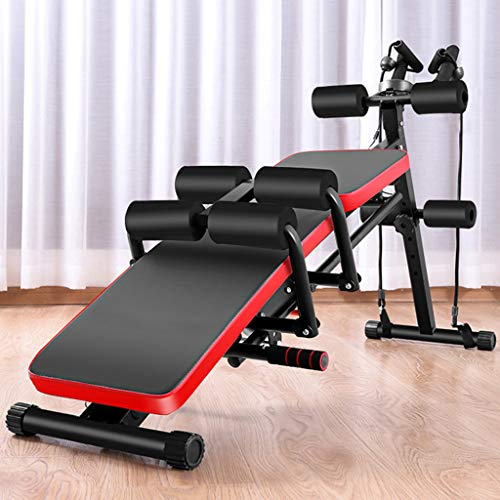 ETHY 8 in 1 Fitness Bench, Multifunctional Sit Up Bench Abdominal Trainers Workout Beauty Waist Machine Height Adjustable Sit-up Exerciser Trainer Dumbbell Bench, Fitness Equipment for Home Gym