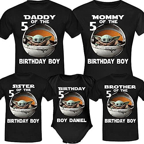 Personalised Baby Y.o.d.a Birthday Shirt, Birthday Girl Boy, Custom Birthday Shirt, Custom Age Shirt, Birthday Gifts, Birthday Family Shirt Long Sweatshirt Hoodie Black