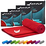 Fit-Flip Toallas Microfibra – 15 Colores, 6 tamaños – Ultraligera y...