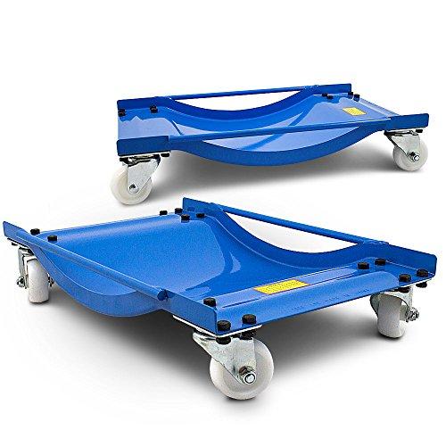 ms-point BITUXX® 2 Stück Rangierhilfe für PKW Auto Rangierroller Rangierheber Wagenheber Roller Bis 450Kg Belastbar pro Rangierroller