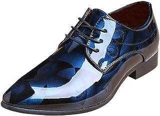 Chaussures Homme d'affaires Cuir Men Shoes Miroir Fleur Lacet Mariage Mode Confort Grande Taile