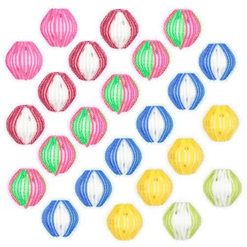 Auidy_6TXD 24 Stück Waschbälle Flusenbälle Umweltfreundlicher Wäsche- Zauberball aus Nylon für Waschmaschine