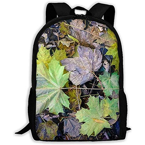 Hdadwy Lightweight Basic Bookbag,Casual Shouder Knapsack,Men/Women Travel Backpack,Yellow Leaves Laptop Business Rucksack,for Adult/Teens,Student School Daypack