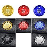 Lfldmj 1 Pieza de Accesorios de Estilo de Coche, Funda de Cubierta de botón de Interruptor de Motor de Arranque y Parada, para Ford Kuga Focus 150 Fiesta Ecosport Pegatina