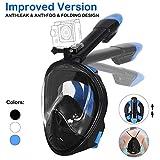 Unigear Masque de Plongée, Masque Snorkeling Plein Visage 180° Visible, Antibuée...