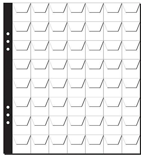Pagna Münzhüllen (56 Fächer, Münzen bis zu Ø 25 mm) transparent