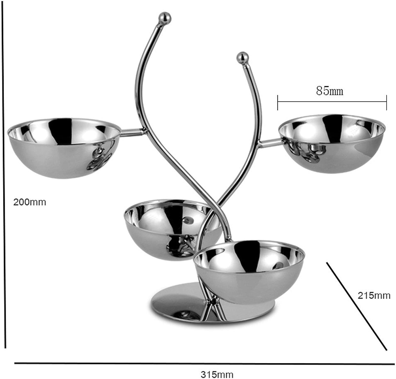 Panier de Dessert de Combinaison de Plat de Fruit d'étoile d'acier Inoxydable de 4 étoiles, Panier de Dessert de KTV Plateau de collation (Taille   315  215  85mm)