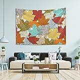 Tapiz para colgar en la pared, diseño de hojas de arce de otoño, para Acción de Gracias, gran tapiz de pared para recámara, tapices de decoración de recámara, 152 x 127 cm