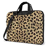 Leopard Animal Print Impreso Laptop Bag, Business Briefcase