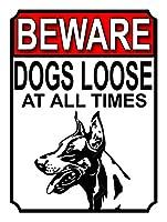 犬はいつもゆるいブリキ看板ヴィンテージ錫のサイン警告注意サインートポスター安全標識警告装飾金属安全サイン面白いの個性情報サイン金属板鉄の絵表示パネル