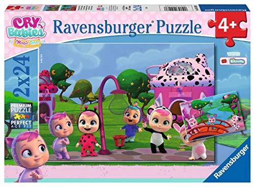 Ravensburger- Cry Babies Puzzle per Bambini, Multicolore, 2 x 24 Pezzi, 05103 8