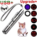 GO! On The Rechargeable Upgrade Pet Training Exercise Chaser Tool, 3 Mode,7-in-1 Cat Light Toy
