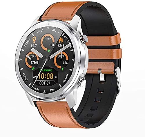 XYJ Smart Watch Bluetooth Call 1 28 Full Touch Music Player Connect BT Headset Männer S Sport Wasserdichter Fitness Tracker (Color : B)