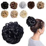 Wavy Hair Bun Extensions Synthetic