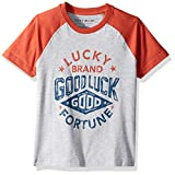 Lucky Brand Little Boys' Short Sleeve Graphic Tee Shirt, Grey Heather, 6
