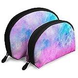 Textura Colorida Salpicaduras de Pintura Bolsas portátiles Bolsa de Maquillaje...
