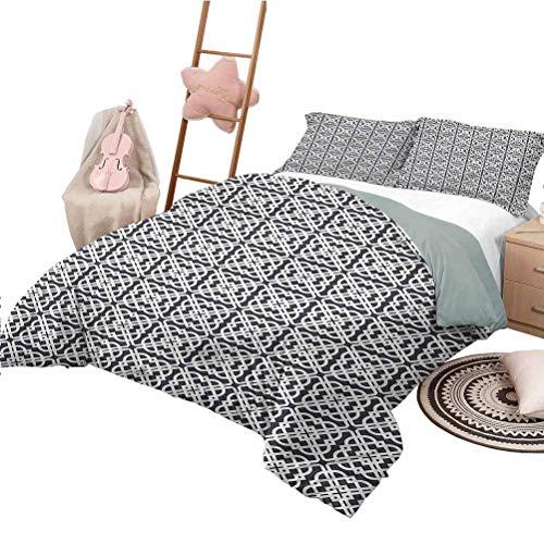 Nomorer 3 Piece Bedding Sets Full Size Geometric Lightweight Bed Sets Medieval Jacquard