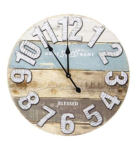 thesecrethome.es Reloj de Pared Vintage Grande 60 cm o Vintage Ideal para Cualquier Estancia del hogar o de tu Negocio....