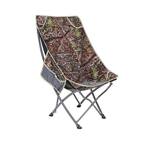 WPCBAA Outdoor draagbare opklapbare stoel terug visstoel kruk recreatieve strandstoel lunch pauze stoel maanstoel