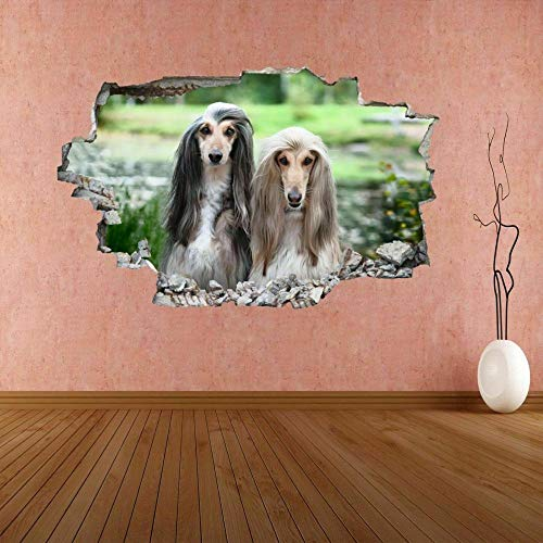 MXLYR Pegatinas de pared Hound Dog Animal 3D Wall Sticker Mural Decal Poster Decoración de la habitación de los niños
