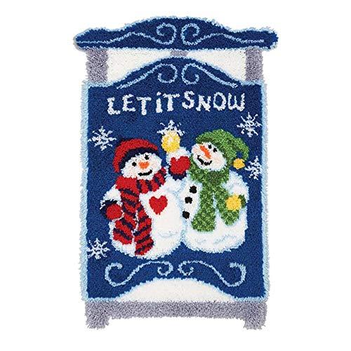 DMDMJY DIY Latch Hook Kits, Crochet Yarn Kits Cover Hand Craft Embroidery Pillowcase Crocheting Sewing Handmade Gift