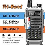 2019 BaoFeng UV-9S Tri-Band 5W VHF,1.25M,UHF 136-174Mhz/220-225Mhz/400-520Mhz 1Extra 220 Antenna Portable Two Way Radio
