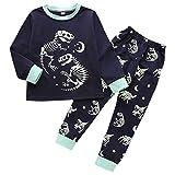 Baby Kinder Jungen Mädchen Lange Ärmel Dinosaurier Gedruckt Tops + Hosen Pyjama Outfit einstellen A496