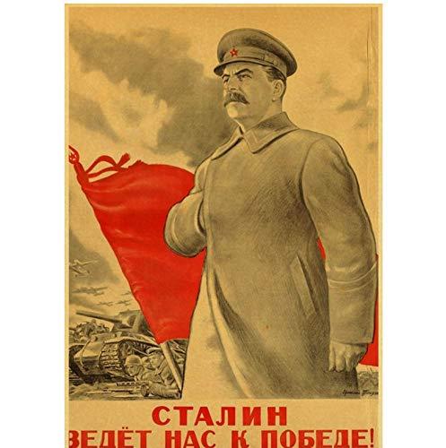 Erster Weltkrieg Russischer Genosse Joseph Stalin Leninistische politische Propaganda Sowjetunion Ussr Cccp Poster Retro Wandplakat Dekor 42X30Cm