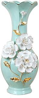 Decoracion Jarrones Disposición moderna minimalista decoración del hogar TV Gabinete Porche flor Ornamento de cerámica del...
