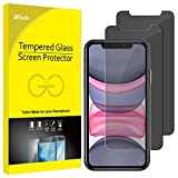 JETech Protection Écran Compatible avec iPhone 11 et iPhone XR 6,1', Film de Protection en Verre Trempé, Anti-Espion, Lot de 2