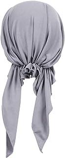 Baoblaze ハット ヘッドラップ イスラム教徒帽子 ターバン 女性 シルク生地 軽量 通気性