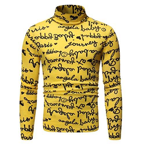 Hombres De Cuello Alto Navidad Decorativo Patrón Impreso Estilo étnico De Manga Larga Otoño Invierno Hip Hop Camisa