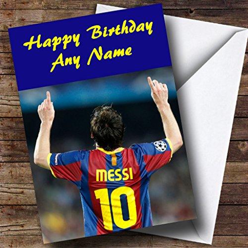 Lionel Messi Shirt Gepersonaliseerde Verjaardagskaart