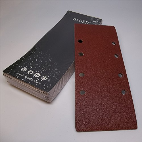 Learn More About BAOSTC 1/3 rectangle Sanding Sheet Assorted 3-5/89 60-80-120,50PACK