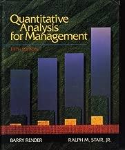 Quantitative Analysis for Management (Quantitative Methods and Applied Statistics)