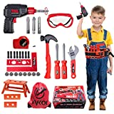 Vykor 35 Pieces Kids tool set,Tools Toys With Screwdriver Nuts And Wrenches,Christmas and Birthday Educational Toy Gift for For Children Ages 3+ Years Old