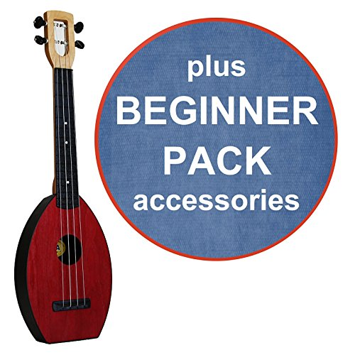 FLEA Ukulele (RED, Concert) + DENIM Case + Beginner Pack