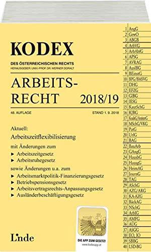 KODEX Arbeitsrecht 2018/19 (Kodex des Österreichischen Rechts)