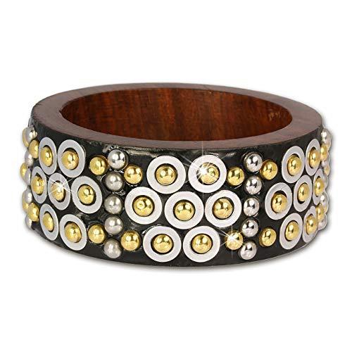 Sueño de plata brazalete de madera de oro/plata, pulseras para mujer de madera de pulseras RAV227Y