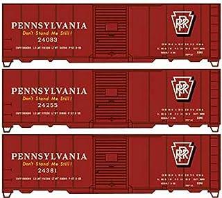 Spur H0 – noggrannhetssats boxbil Pennsylvania järnväg 3 stycken