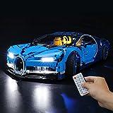 BRIKSMAX Kit de iluminación LED Control Remoto de Sonido multifunción para Lego Technic Bugatti Chiron, Compatible con Lego 42083 - No Incluye el Set Lego
