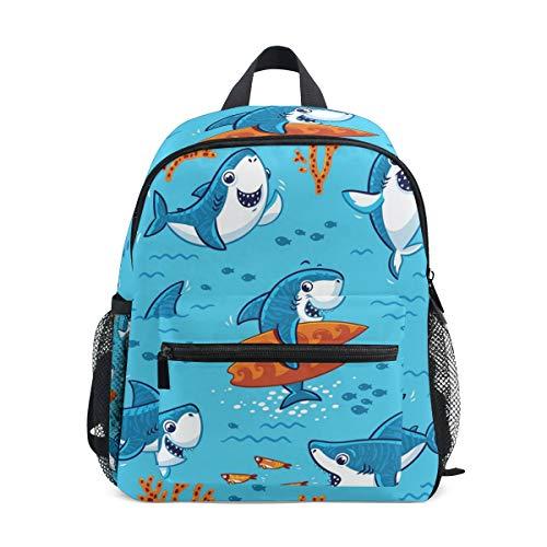 CPYang Kinder-Rucksack Ocean Sea Animal Hais Schultasche Kindergarten Kleinkind Vorschulrucksack für Jungen Mädchen Kinder