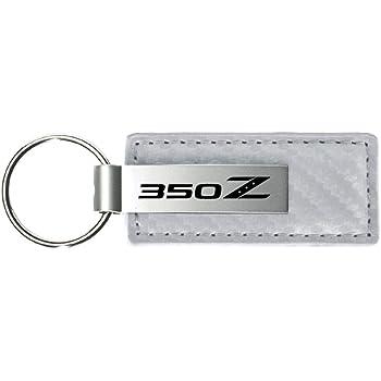 DanteGTS Nissan 350z 350 z White Carbon Fiber Leather Key Chain