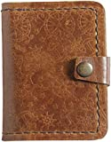 Wish and More - Portafogli in vera pelle con motivo minimalista, realizzato a mano, in stile minimalista, in rilievo, per la festa del papà, regalo per papà e figlio