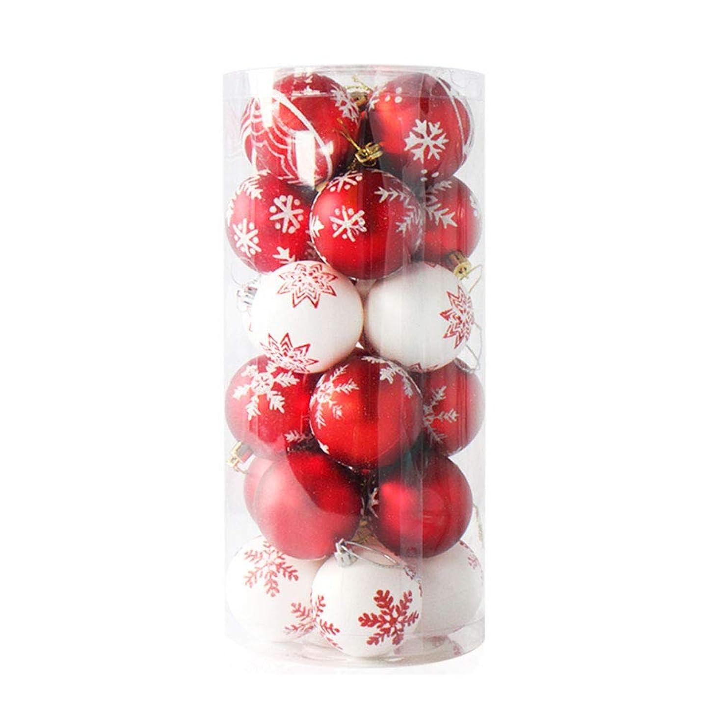 モトリー難民気がついてクリスマス オーナメント ボール クリスマスツリー 飾り 24個セット 直径6CM デコレーション パーティー イベント ラグジュアリー 北欧風 (タイプ3)